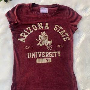 ASU arizona state university pink S sm small shirt